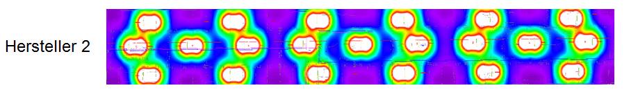 Es wurde eine Beleuchtungssimulation erstellt um den besten Hersteller für die Ausleuchtung der Tiefgarage zur ermitteln